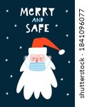 cute hand drawn santa claus in... | Shutterstock .eps vector #1841096077
