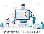male patient  pulmonologists... | Shutterstock .eps vector #1841111164