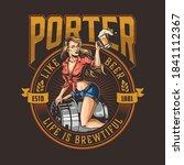 beer colorful vintage logotype...   Shutterstock .eps vector #1841112367
