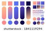 vector gradient background. set ... | Shutterstock .eps vector #1841119294