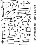 set of doodle arrows  hand... | Shutterstock . vector #184112795