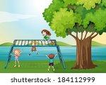 illustration of the kids... | Shutterstock .eps vector #184112999