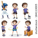 illustration of the different... | Shutterstock .eps vector #184113005
