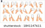 set of realistic human hands ... | Shutterstock .eps vector #1841147611