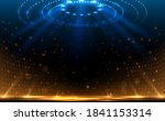 arena blue and yellow lights... | Shutterstock .eps vector #1841153314