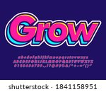 graffiti red and blue text... | Shutterstock .eps vector #1841158951