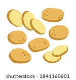 vector illustration of potato... | Shutterstock .eps vector #1841160601