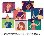online internet birthday ... | Shutterstock .eps vector #1841161537