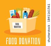 food donation banner or poster... | Shutterstock .eps vector #1841161561