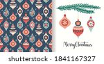 christmas decorative set with... | Shutterstock .eps vector #1841167327