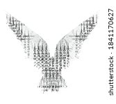 raven silhouette with abstract... | Shutterstock .eps vector #1841170627