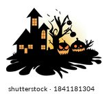 vector illustration halloween... | Shutterstock .eps vector #1841181304