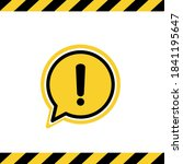 black hazard warning attention... | Shutterstock .eps vector #1841195647