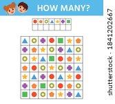 education game for kids. how... | Shutterstock .eps vector #1841202667