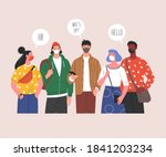social prevention measures for... | Shutterstock .eps vector #1841203234