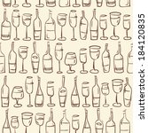 hand drawn wine glasses and... | Shutterstock .eps vector #184120835