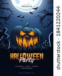 halloween pumpkin flyer poster... | Shutterstock .eps vector #1841220244