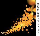 vector orange gold petals of... | Shutterstock .eps vector #1841223034