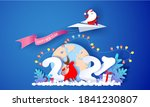 2021 new year card design.... | Shutterstock .eps vector #1841230807