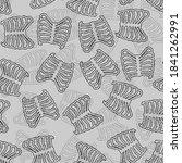 ribs pattern seamless. rib bone ... | Shutterstock .eps vector #1841262991