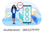 weather forecasting and... | Shutterstock .eps vector #1841279797