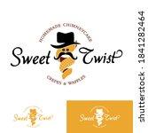 sweet twist chimney cake logo... | Shutterstock .eps vector #1841282464