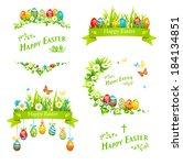 Easter Design Elements Set....
