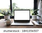 Laptop Mock Up White Blank...