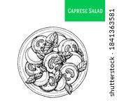 caprese salad vector... | Shutterstock .eps vector #1841363581