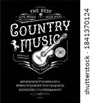 font country music. craft retro ... | Shutterstock .eps vector #1841370124
