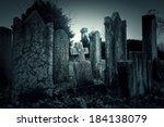 cemetery night | Shutterstock . vector #184138079