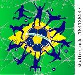 brazilian flag vector... | Shutterstock .eps vector #184138547