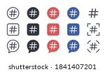 hashtag icons vector set.... | Shutterstock .eps vector #1841407201