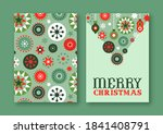 merry christmas greeting card... | Shutterstock .eps vector #1841408791