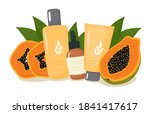 cosmetic set of creams and...   Shutterstock .eps vector #1841417617