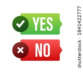yes and no button. feedback... | Shutterstock .eps vector #1841422777