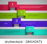 bright color infographic... | Shutterstock .eps vector #184142471