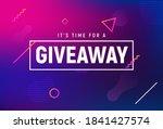 giveaway winner gift contest....   Shutterstock .eps vector #1841427574