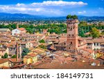 Scenic View Of Lucca And...