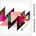 geometric design template for... | Shutterstock . vector #184150151