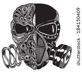 vector sketch gas mask   Shutterstock .eps vector #184150409