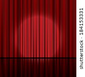 red curtain vector background. | Shutterstock .eps vector #184153331