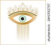 evil eye  white background ... | Shutterstock .eps vector #1841552737