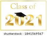 graduation card vector 2021.... | Shutterstock .eps vector #1841569567