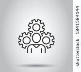 people with gear icon in flat... | Shutterstock .eps vector #1841584144
