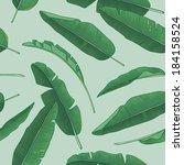 banana leaves pattern | Shutterstock .eps vector #184158524