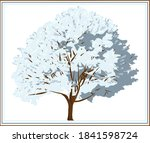 Winter Tree Covered With Snow