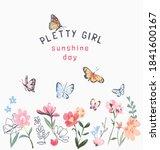 pretty girl slogan with... | Shutterstock .eps vector #1841600167