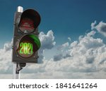 Traffic Light With Green Light...