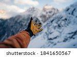 Hand Winter Sport Glove On Snow ...